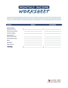 Monthly budgeting worksheets (PDF)