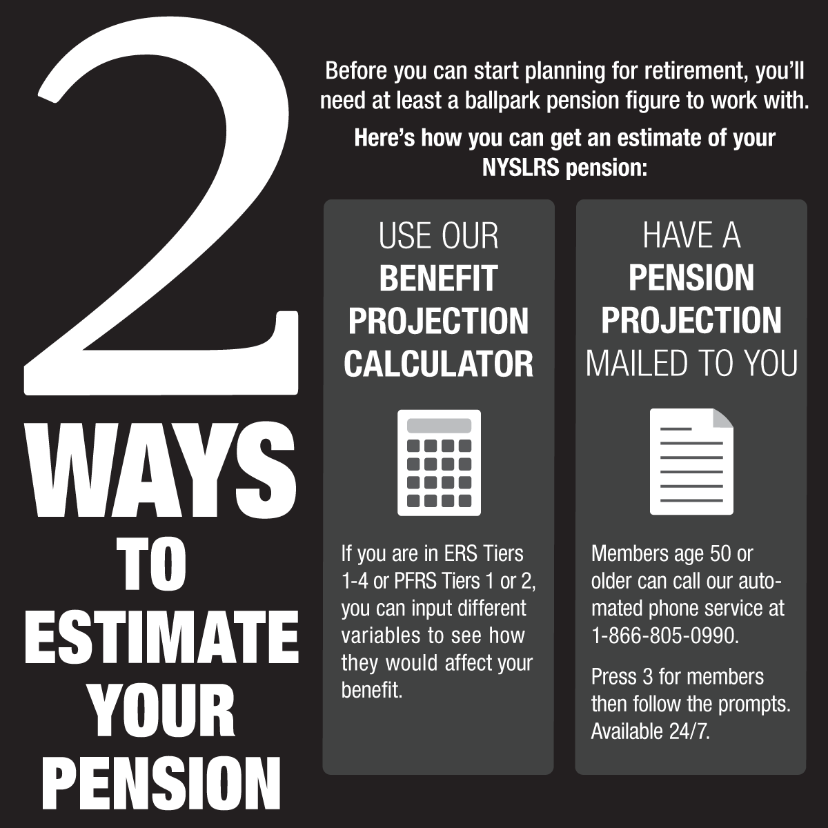 how to estimate pension infographic