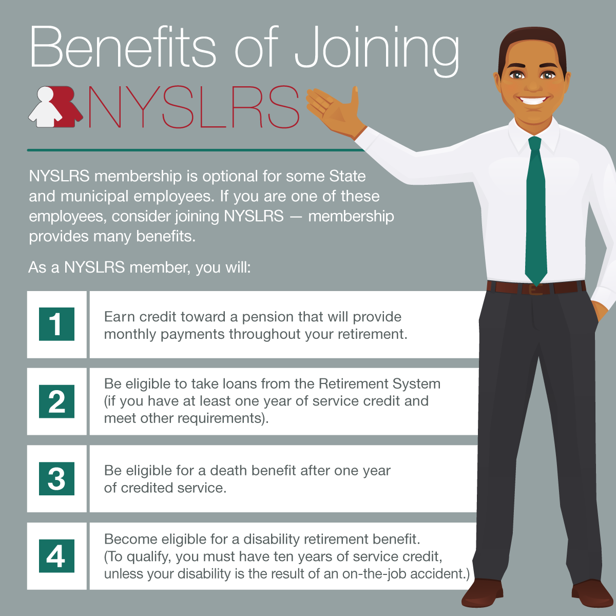 join NYSLRS for membership benefits