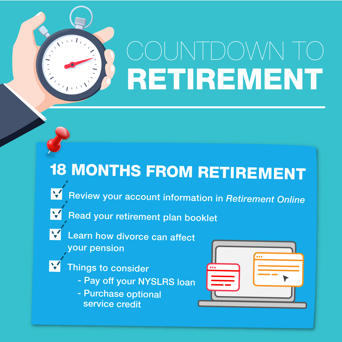 Countdown to Retirement 18 months