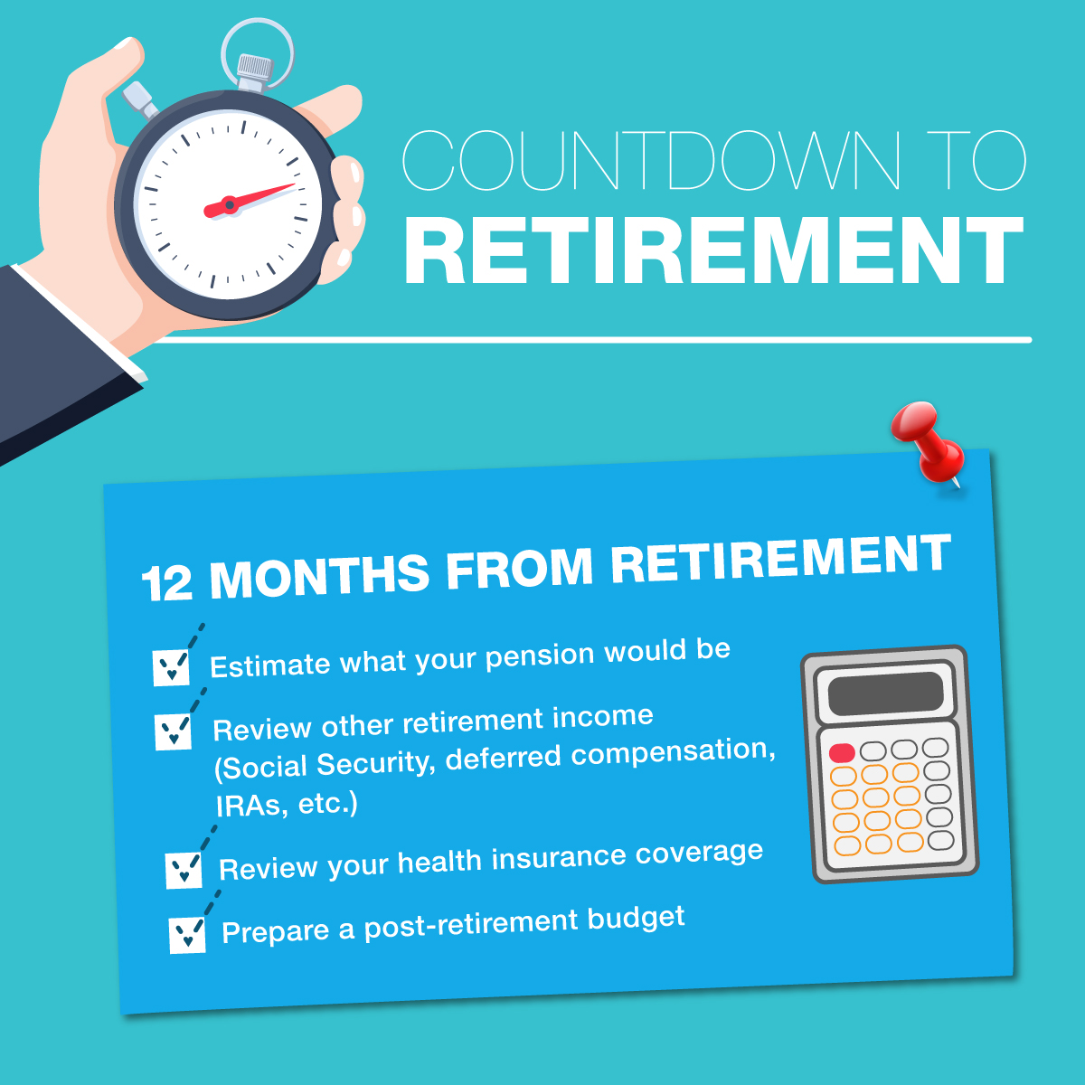 Countdown to Retirement - 12 months To Go