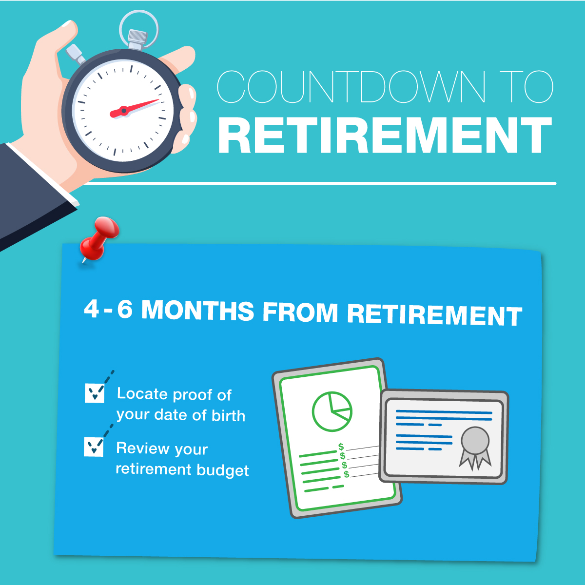 Countdown to Retirement - 4-6 months to go